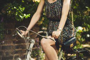 Frau Sommer Fahrrad